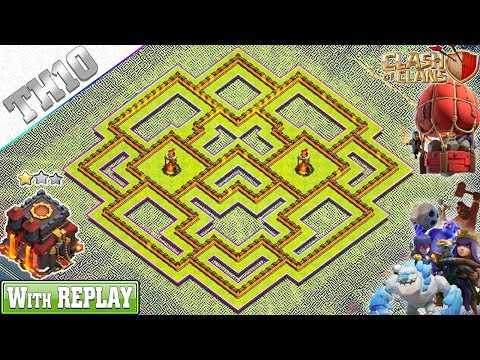 NEW TH10 Base 2019 With REPLAY | TH10 Hybrid Base With Copy Link - Clash Of Clans