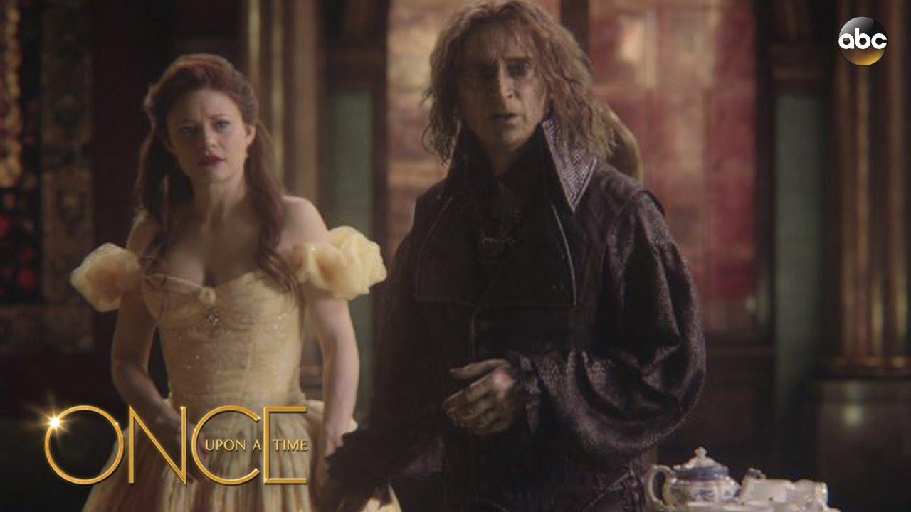 once upon a time rumpelstiltskin and belle first meet