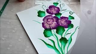 Рисуем букет цветов.(Рисуем цветы быстро и легко. Спасибо за просмотр! VK станица -http://vk.com/id20370108., 2013-03-02T15:38:03.000Z)