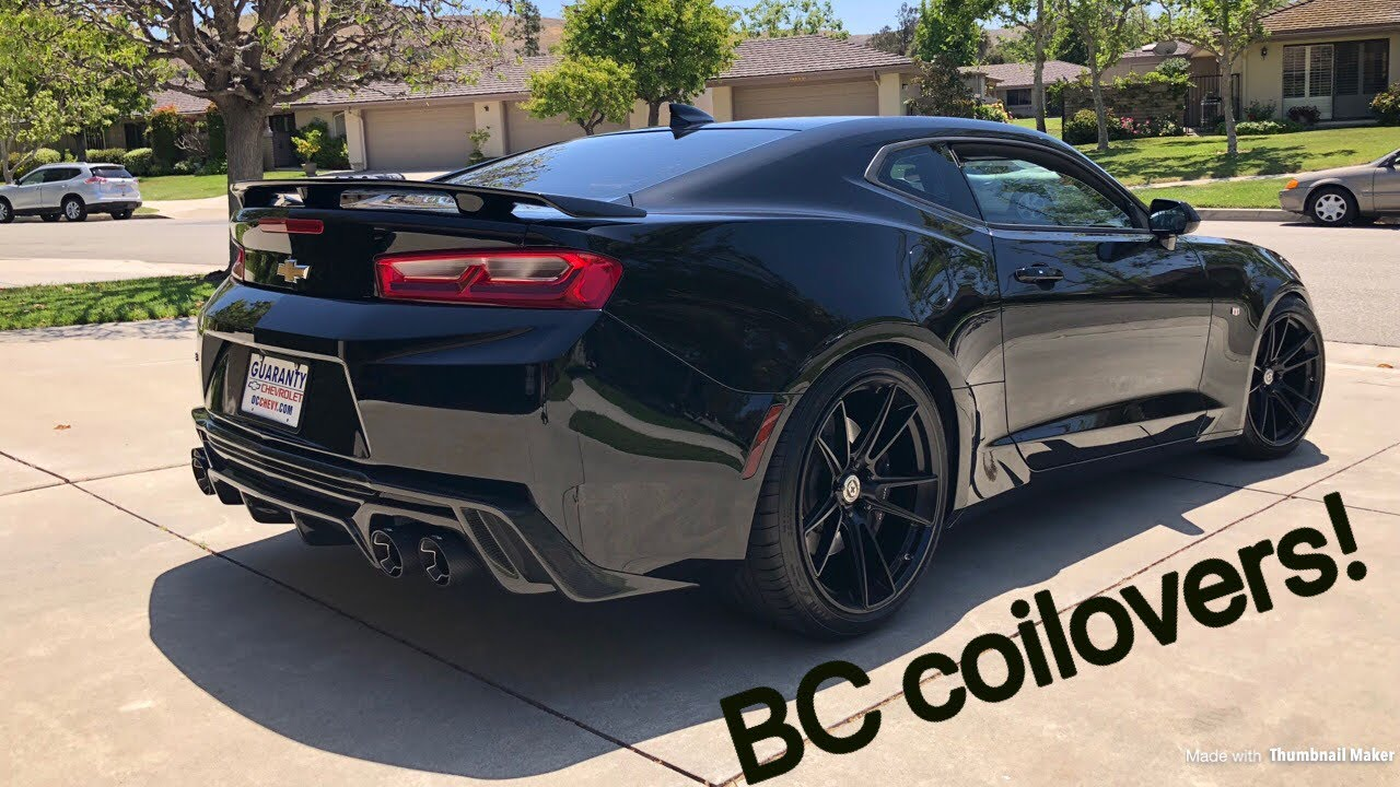 2018 Camaro BC coilovers are on!