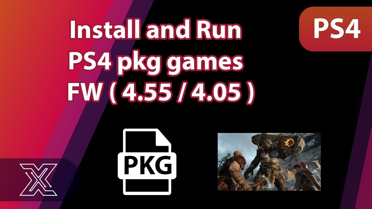 Install and run PS4 pkg games /4 55 /4 05 / 5 05