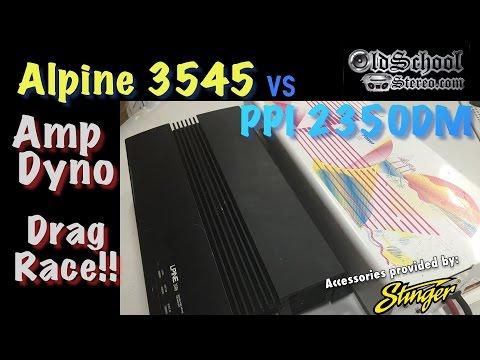 1989 Alpine 3545 vs PPI 2350DM Amp Dyno Drag Race