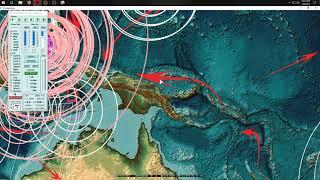 1/09/2019 -- 55,000 ft. Volcanic Blast @ Manam Volcano + RARE Mississippi fracking oil earthquake