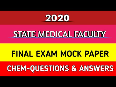 STATE MEDICAL FACULTY MOCK PAPER- CHEMISTRY PART