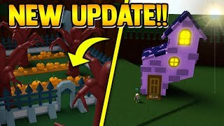 HALLOWEEN UPDATE!! (Secret Area, Pumpkins, Witch Houses) | Build a boat for Treasure ROBLOX