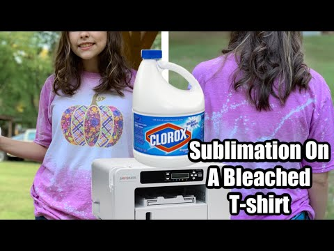 Sublimation On A Bleached T-Shirt