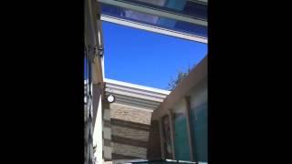Retractable Glass Bi-parting Skillion Roof