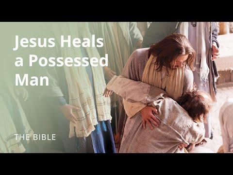 Jesus Heals a Possessed Man - Jesus Heals a Possessed Man