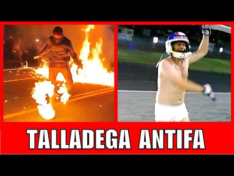 Ricky Bobby On Fire Impersonation By Antifa Member Talladega Nights Parody Youtube