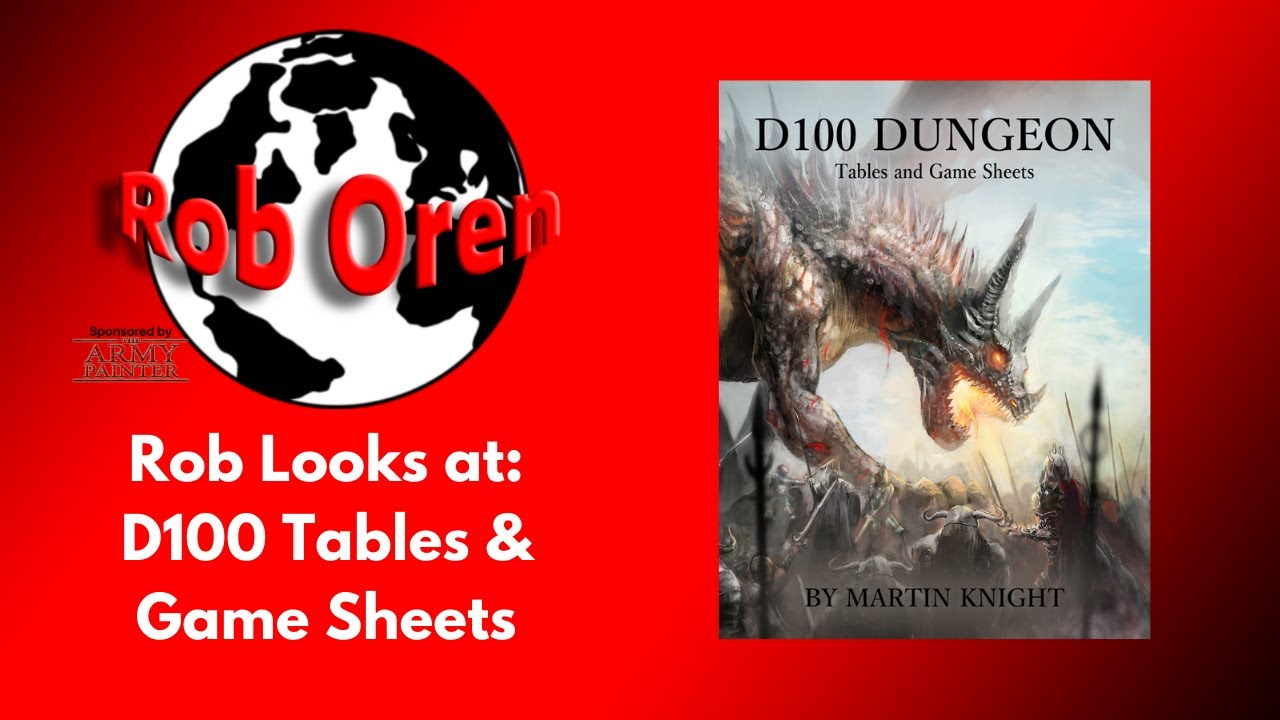 Rob looks at New D100 Dungeon Tables and Game Sheets