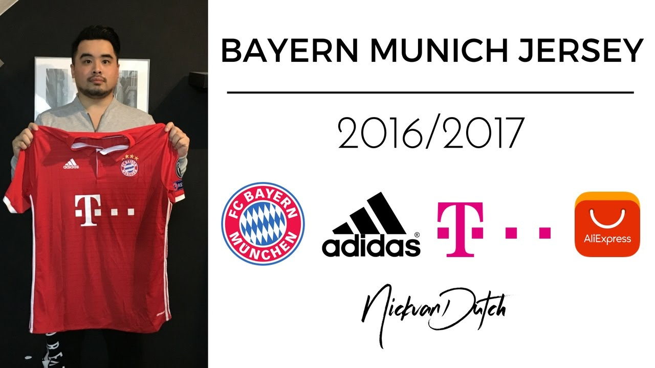 FC Bayern Munich Jersey 2016 2017 Aliexpress Unboxing and Review Adidas  Football Shirt ee9072801807c