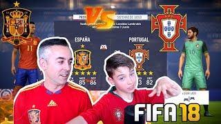DUELO ESPAÑA VS PORTUGAL FIFA 18