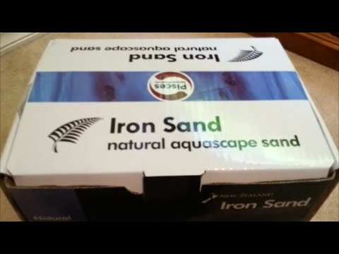 Planted Aquarium Substrate - Black Iron Sand Unboxing