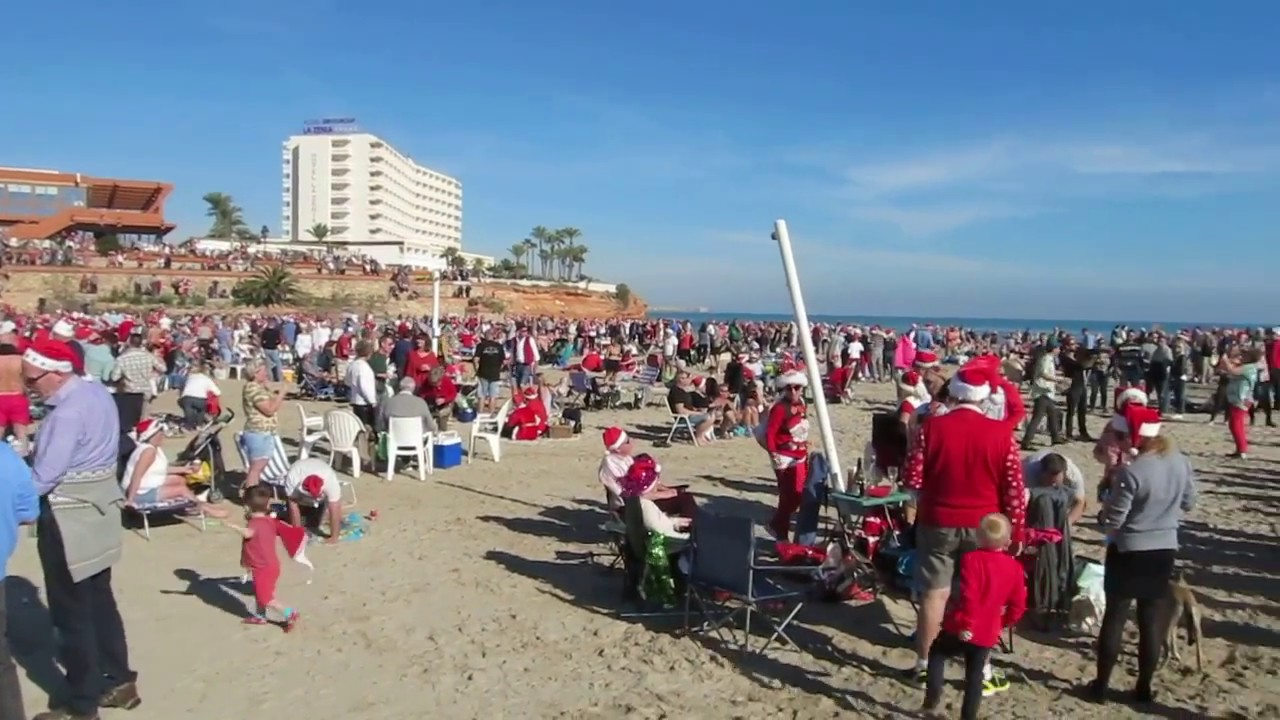 Christmas day with santa claus on la zenia beach 2016 - La zenia torrevieja ...