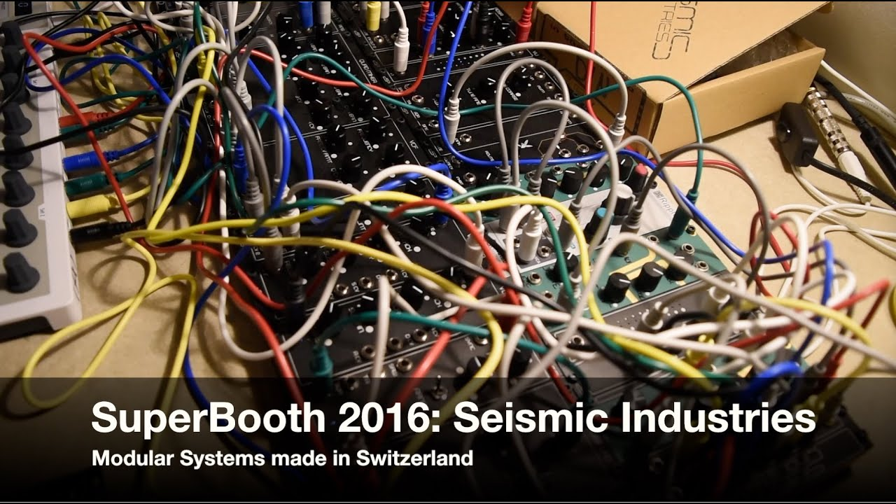 SuperBooth 2016: Seismic Industries - Modular Systems from ...