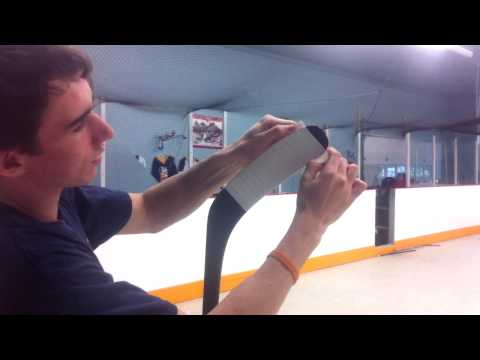 How to Tape a Hockey Stick │ by: How To Dangle
