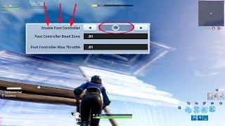 El controlador de pie en la configuración de Fortnite será un cambiador de juego... * Explicar* Cómo funciona