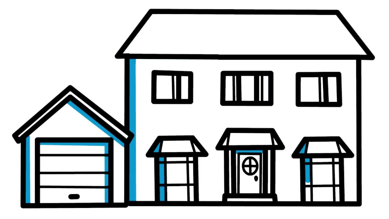 Simple drawing of a house images for House drawing easy