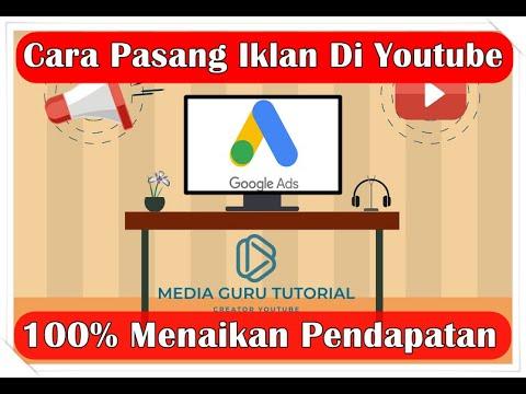 Cara Memasang Iklan Adsense Di Youtube Channel Media Guru Tutorial Youtube