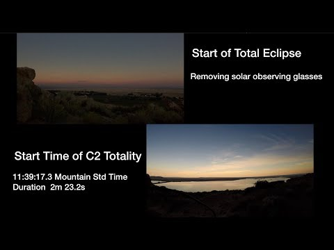 2017 Solar Eclipse – Experiment to video the Moon's shadow sweeping  overhead