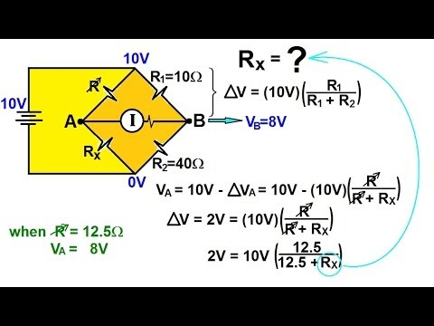 Physics - Ohm's Law and Resistor Circuits (14 of 18) The Wheatstone Bridge (1)