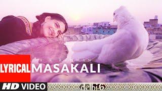 Lyrical: Masakali | Delhi 6 | Abhishek Bachchan, Sonam Kapoor | A.R. Rahman |  Mohit Chauhan