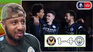 Newport County 1-4 Man City | Foden Scores Two | 2018/19 FA Cup