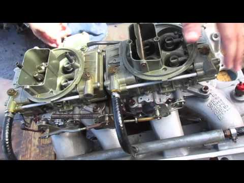 Ford 427 dual carb setup - YouTube