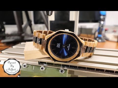DIY - Making wooden watch with pyrography design