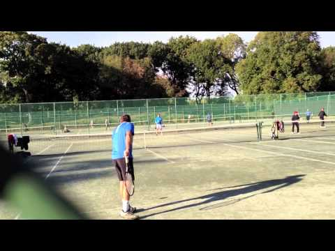 Playing Tennis in Central Park