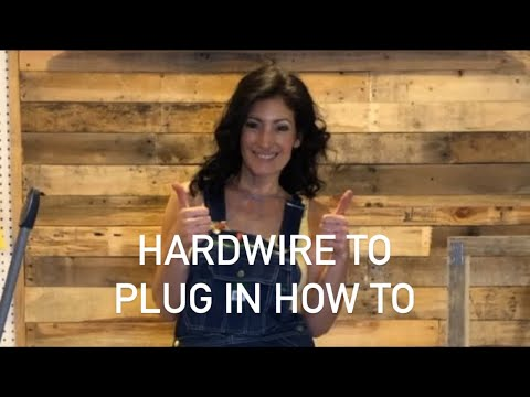how-to-convert-a-hardwire-light-fixture-to-plug-in-|-miss-dewalt