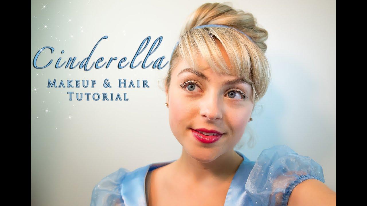 Cinderella Makeup And Hair Tutorial Youtube