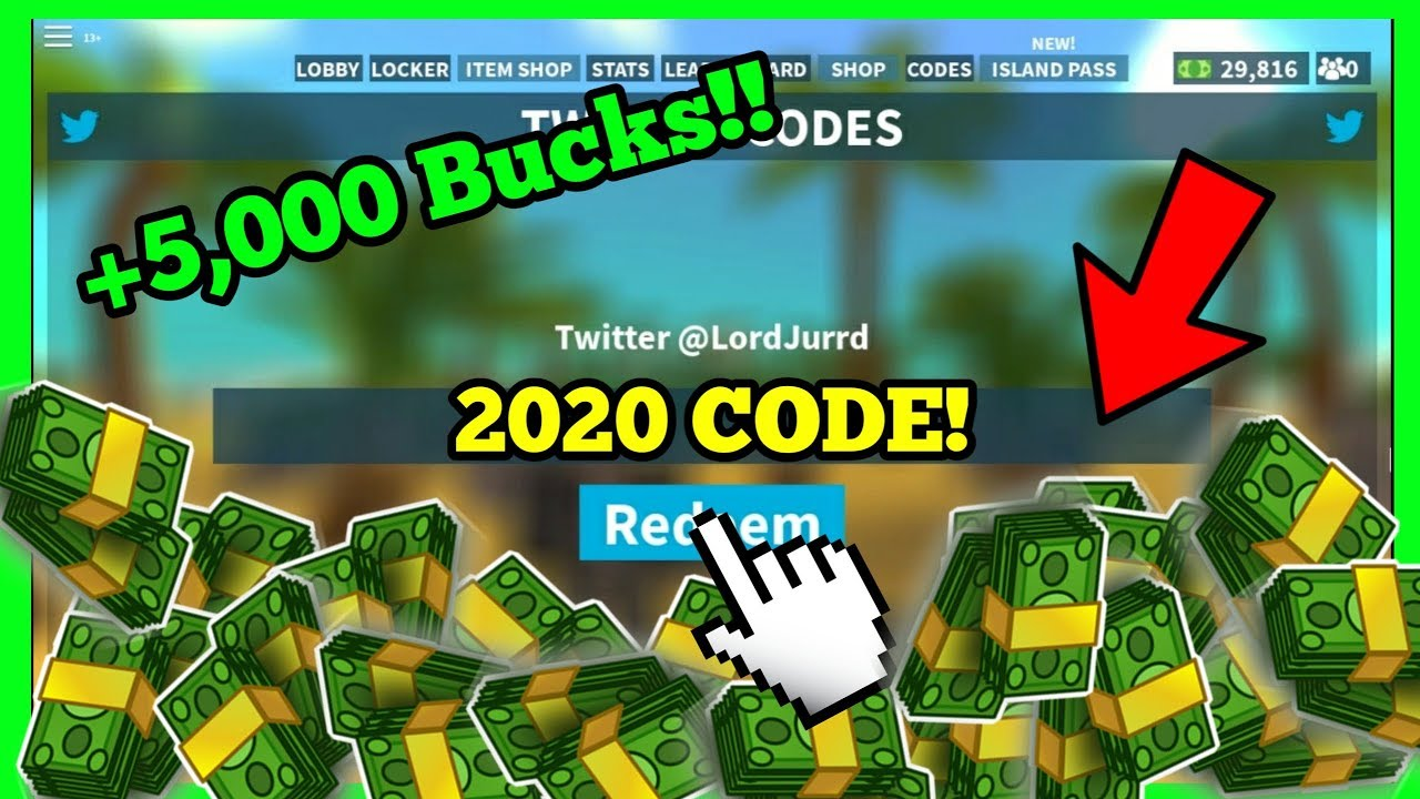 Roblox Island Royale Codes 2020 January Youtube