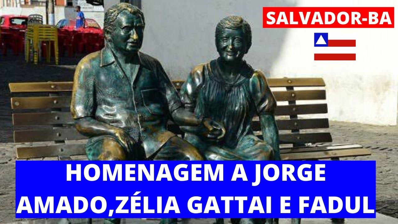 Resultado de imagen para estatua de jorge amado en brasil
