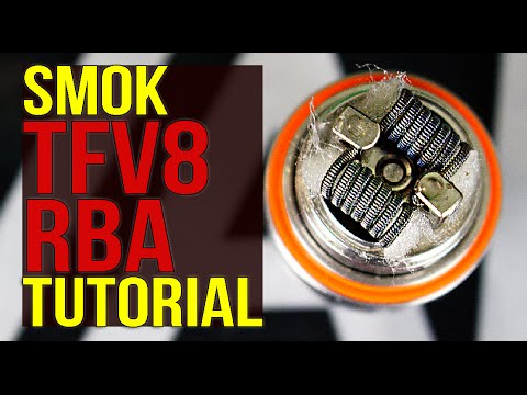 SMOK TFV8 RBA TUTORIAL | How To Build/Wick The Included Coil | GREAT Flavor Production!