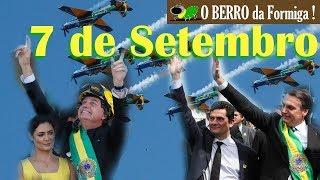 Bolsonaro desfila a pé com Moro, Heleno e ministros no 7 de Setembro + Esquadrilha da Fumaça
