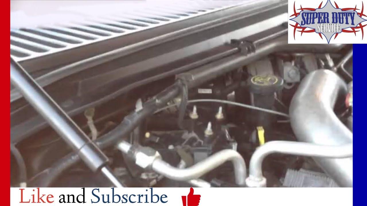 6 0 Powerstroke Bed Plate Oil Leak Youtube