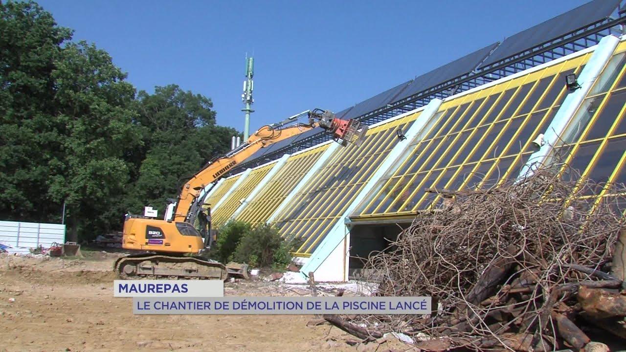 Yvelines   Maurepas : le chantier de démolition de la piscine lancé