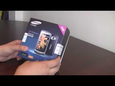 Samsung i8910 Omnia HD Unboxed