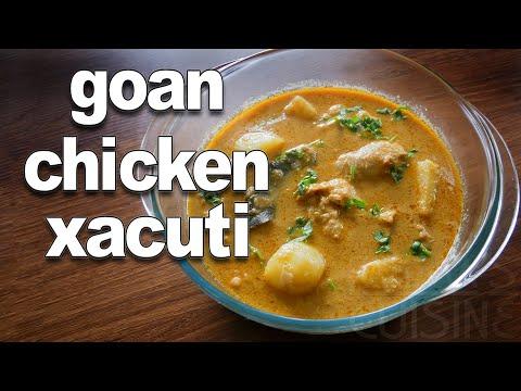 Xacuti Recipe | Goan Chicken Xacuti | Konkani Coconut Chicken Curry | Goan Recipes