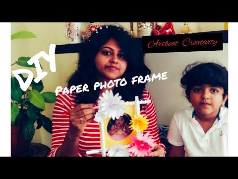 Artbeat Creativity # DIY #Photo frame with paper.