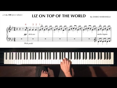 """Liz On Top of the World"" Dario Marianelli PIANO TUTORIAL (Pride and Prejudice)"