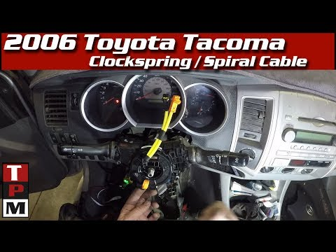 How to Replace a Toyota Clockspring spiral cable   codes and symptoms also
