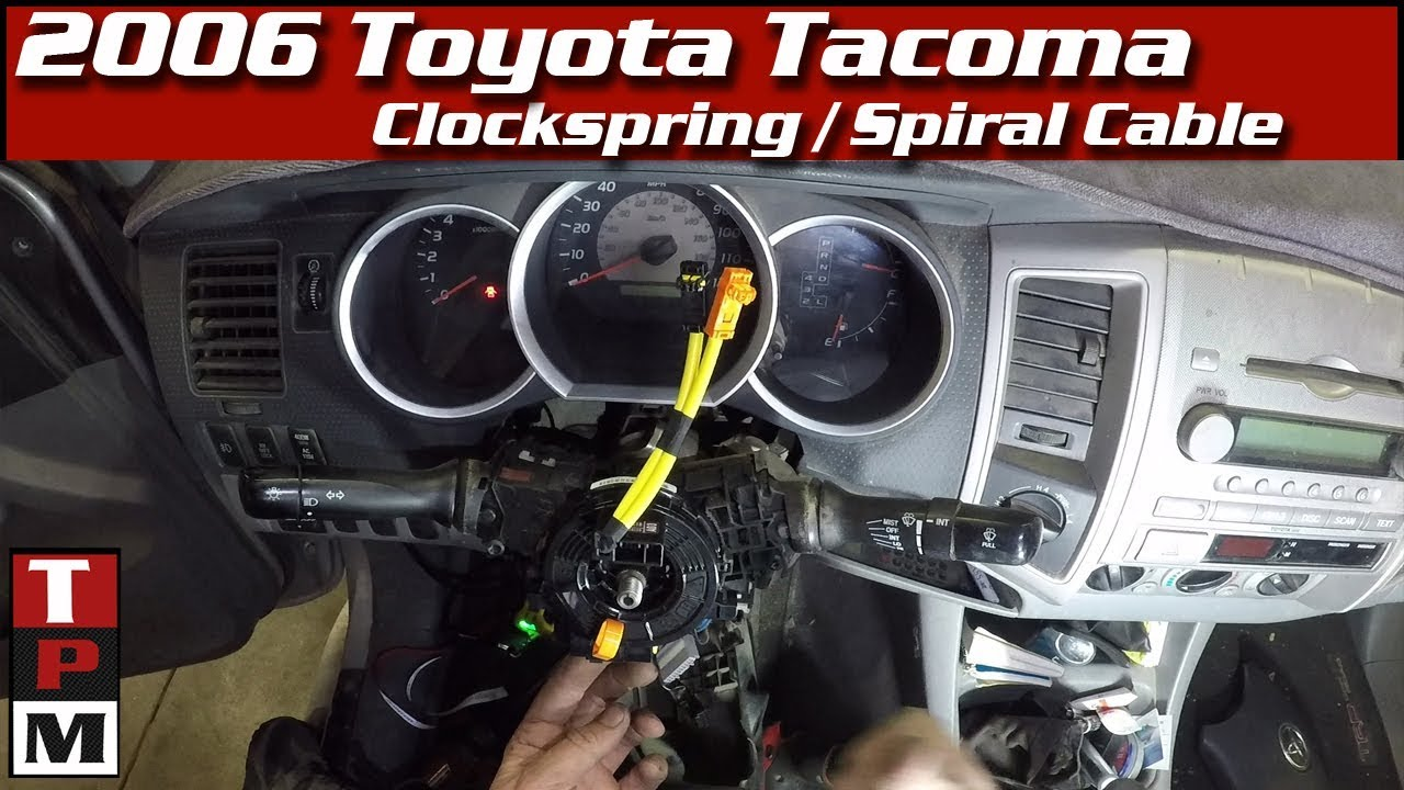 how to replace a toyota clockspring spiral cable codes and symptomshow to replace a toyota clockspring spiral cable
