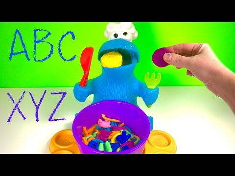 Thumbnail: Best Learning Colors and Letters Video for Children - Play Doh Eating Cookie Monster & Paw Patrol