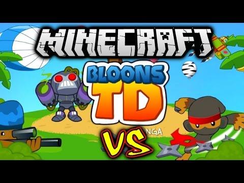Minecraft BLOONS TD BATTLES #1 with Vikkstar (Minecraft Tower Defense)