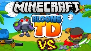 Minecraft BLOONS TD BATTLES #1 with Vikkstar (Minecraft Tower Defense)