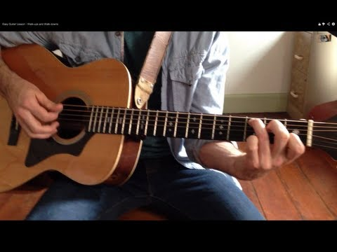 Easy Guitar Lesson - Walk-ups and Walk-downs