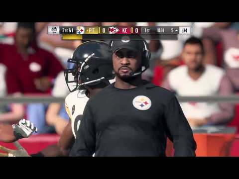 Madden 18 - Pittsburgh Steelers vs Kansas City Chiefs - Full Game Simulation Nation