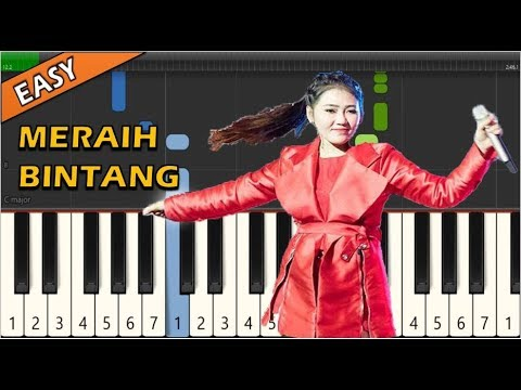 Via Vallen - Meraih Bintang (Piano Tutorial ~ Easy & Simple) ASIAN GAMES 2018